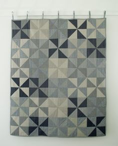 Denim Pinwheel Quilt - the purl bee