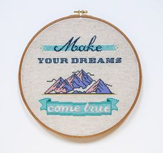 Dont let your dreams be dreams! This is cross stitch pattern from my quotes collection. It is colorful, compact and easy to stitch! The pattern
