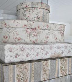 Fabric Covered Boxes - via Aldri kjedelig i Ertrevågen