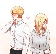 Attack On Titan Funny, Attack On Titan Fanart, Attack On Titan Ships, Anime Fnaf, Kawaii Anime, Snk Annie, The Legend Of Heroes, Anime Couples Drawings, Anime Ships