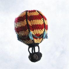 New Pattern: Crocheted Hot Air Balloon | NeedleNoodles: Crochet Patterns, Knit Patterns, Amigurumi Awesomeness