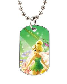VOLLET Hot Sale Disney Lovey Cartoon Tinker Bell Personalized CatDog Tag Pet Id Tag Necklace -- Want to know more, click on the image.