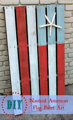 southern state of mind: {Pinterest Challenge} Nautical American Flag Pallet Art