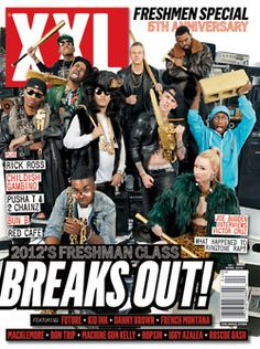 XXL Freshman class of 2012 XXL Magazine have dropped their 2012 Freshman issue featuring artists to keep an eye on this year. Future, Kid Ink, Danny Brown, French Montana, Macklemore, Don Trip, Machine Gun Kelly, Hopsin, Iggy Azalea, and Roscoe Dash all made the cut. No mention for ASAP Rocky or ScHoolboy Q www.three6fivemusic.com