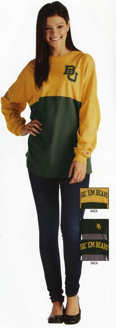 Baylor Bears women's long sleeve Ra Ra shirt // This is actually adorable, and looks super comfy.