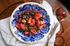 champignons with swiss chard and strawberries