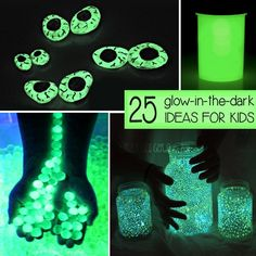 Glow-in-the-dark things fascinate my kids. Here are OVER 25 things that will glow and mesmerize your kiddo! Glow Stick Party, Glow Sticks, Fun Crafts, Crafts For Kids, Glow Crafts, Camping Crafts, Summer Crafts, Camping Ideas, Neon Licht