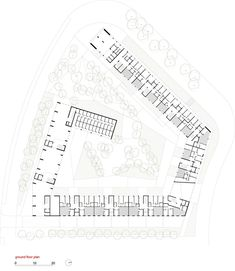 emv - 170 Social Housing VPO / Burgos & Garrido arquitectos,Ground Floor Plan 01