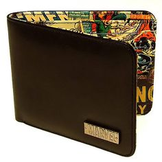 This Marvel Retro Collection Black Wallet is the perfect accessory for the geek that carries cash. It's classy on the outside, with a clean black print, and geeky on the inside, with a colorful retro Marvel Comics print. Comic Book Printing, Marvel Gifts, Thing 1, Black Wallet, Tk Maxx, Best Christmas Gifts, Geek Stuff, Fun Stuff, Comic Books
