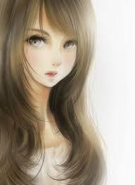 Resultado de imagem para menina anime cabelo castanho
