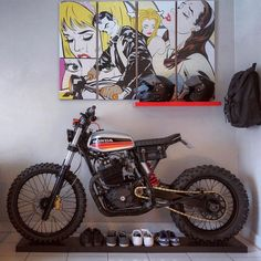 Scramblers & Trackers by @caferacergram   Tag #scramblerstrackers   @dinamaxxxx's Epic Honda in it's living space... clean and waiting for the dirt... #scrambler #tracker #scramblers #trackers #caferacergram See more on our profile or at www.facebook.com/scramblerstrackers via ✨ @padgram ✨(http://dl.padgram.com)
