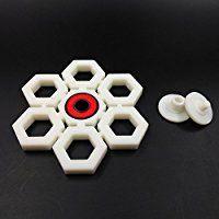 Yomaxer Fidget Spinner Toy 3D Printing Snowflake Shape Ceramic Bearing Focus Toy for ADHD ADD EDC Killing Time