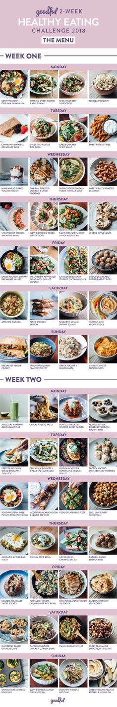 At the bottom of this post there are links to navigate to each day's meals, which provide the recipes, directions, and nutritional values.