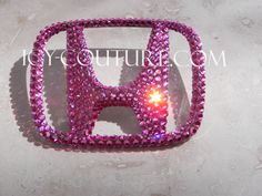 0186881-Swarovski Crystal Honda H Emblem! Black, Pink, Gold, Honda Accord Accessories, Car Accessories, New Honda, Honda Civic, Soichiro Honda, Girly Car, Honda Pilot, Honda Logo, Sexy Cars