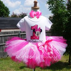 Baby Girl First Birthday Tutu Outfit with by TheRaspberryBunny