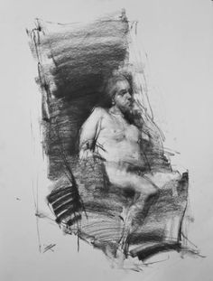 "Saatchi Art Artist Zin Lim; Drawing, ""Figure#D17"" #art"