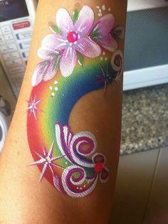 #faceNbodyPaint Rainbow arm design