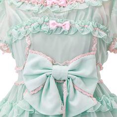 緑ワンピース  ロリィタファッション Angelic pretty