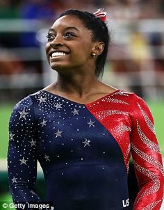 Looking up: Simone Biles has regularly shared throwback images of herself as a child - unsurprising given just how adorable the baby Biles was