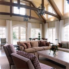 Traditional Living Room Exposed Beams Design, Pictures, Remodel, Decor and Ideas - page 4
