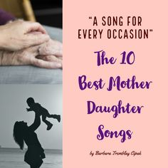 The Top 10 Best Mother Daughter Songs, Songs for Every Occasion. These 10 songs … There are some songs found in the world as given. We are proud to share these tracks known as the best songs. The best songs… Continue Reading → Mother Daughter Wedding Songs, Daughter Lyrics, Mother Song, Mom Song, Songs For Graduation Slideshow, Graduation Songs, Songs About Daughters, Slideshow Songs, Song Lyric Tattoos