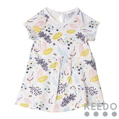 Floral dress - for those warmer winter days, this shortsleeve cotton dress is the perfect solution Winter Sky, Blush Color, Accent Colors, Cotton Dresses, Floral Tops, Kids Outfits, Rompers, Pink, Collection
