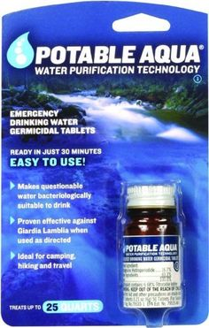 Potable Aqua Water Treatment Tablets by Potable Aqua, http://www.amazon.com/dp/B001949TKS/ref=cm_sw_r_pi_dp_1l7Ppb19B4RE6