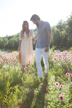 Love the flowers/high grass   styled shoot | boho save the date