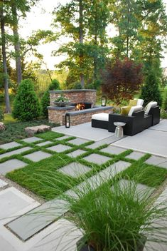 Large garden with outdoor entertaining areas