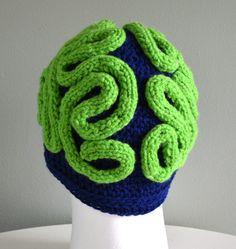 Promotional price  Brain Hat /Brain Beanie by Beautifulcrochet