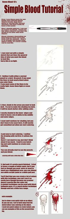 Just a very simple tutorial on how I've been drawing my blood lately. I'm sorry if it's not as in-depth as it should be, but it's really a very random style, not a lot of thinking is involved X) th...