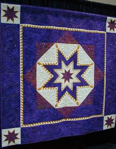 2015 PIQF International Quilts ~ Triple Feathered Star by Yvonne McKee  from the United Kingdom  75 x 75