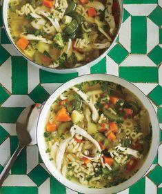 Lemony Chicken Noodle Soup. ☀CQ #soups
