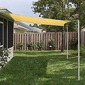 The pergola kits are the easiest and quickest way to build a garden pergola. There are lots of do it yourself pergola kits available to you so that anyone could easily put them together to construct a new structure at their backyard. Deck Shade, Sun Sail Shade, Backyard Shade, Backyard Canopy, Canopy Outdoor, Pergola Shade, Backyard Patio, Backyard Landscaping, Landscaping Ideas