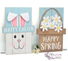 Easter Decor  Easter Wooden Wall Hanging  Easter Spring