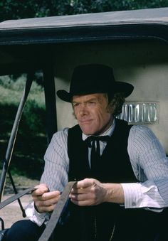 "Kevin Hagen as Dr. Baker on ""Little House on the Prairie"""
