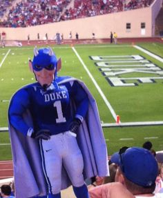 Flat Blue Devil visits Wallace Wade Stadium
