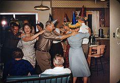 sixties new year's eve conga line