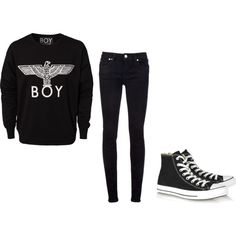 FOB Inspired Outfit (post-hiatus). LOVE the sweatshirt. Would have to add some jewelry though