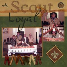 Crafty Neighbor's Neighborhood Gossip: Boy Scout Layout Ideas and more....