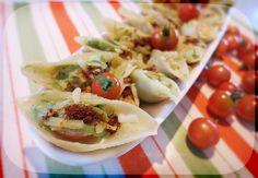 Stuffed Conchiglioni w Cherry Tomato, Basil Cream & Smoked Paprika - main or #vegan finger food, up to you :-)