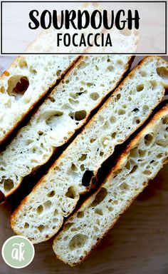 There's no complicated shaping or scoring here; no preheated and heavy dutch ovens. This is a great beginner's sourdough recipe. Focaccia Bread Recipe, Sourdough Recipes, Sourdough Bread, Bread Recipes, Cooking Recipes, Starter Recipes, Scd Recipes, Bread Starter, Gourmet