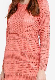 Baju Kurung Crochet Lace - Vercato Atita from VERCATO in pink_3