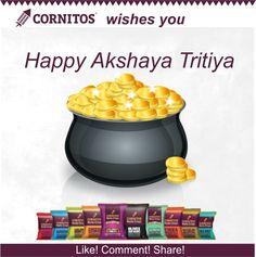 May this #AkshayaTritiya bring you prosperity and joy. Do you know why Akshaya Tritiya is celebrated? Like! Comment! Share!