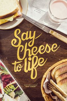 Say cheese to life - experimental typography with cheese on Behance
