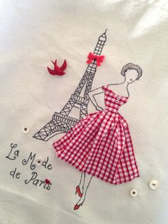 Paris 1950's French Fashion Retro Chic by PetiteSourisStudio
