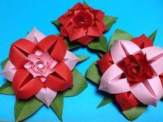 達人折りのバラの折り紙26 Only one origami rose26 - YouTube