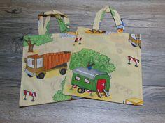 """""""Baustelle"""" - kleine Stofftasche für Kinder   von Tantes Taschenlädchen auf DaWanda.com"""