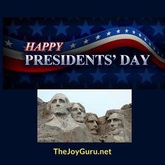 How will you celebrate today?  #TheJoyGuru #YesYouCan #MondayMotivation #MotivationalMonday #CarpeDiem #PresidentsDay