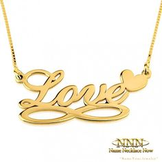 Be Fun, Be Stylish - Custom Infinity Necklaces. Buy Online Now, Any Name Any Language!